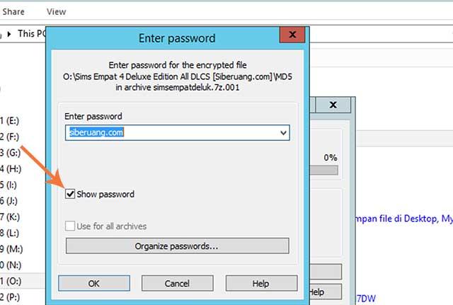 Centang Show Password